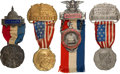 Political:Ribbons & Badges, Theodore Roosevelt et al: Four Convention Badges....