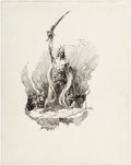Original Comic Art:Illustrations, Michael Kaluta - Warrior Sketch Original Art (undated)....
