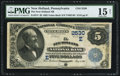 National Bank Notes:Pennsylvania, New Holland, PA - $5 1882 Value Back Fr. 574 The New Holland NB Ch.# (E)2530. ...