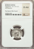 Ancients:Ancient Lots , Ancients: ANCIENT LOTS. Roman Imperial. Ca. AD 218-235. Lot of two(2) AR denarii. NGC AU-Choice AU, The Seven Hills Hoard....(Total: 2 coins)