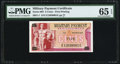 Military Payment Certificates:Series 692, Series 692 5¢ PMG Gem Uncirculated 65 EPQ.. ...