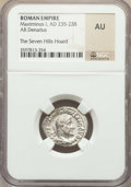 Ancients:Ancient Lots , Ancients: ANCIENT LOTS. Roman Imperial. Ca. AD 235-244. Lot of two(2) AR denarii. NGC AU, The Seven Hills Hoard.... (Total: 2 coins)