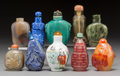 Asian:Chinese, A Group of Ten Chinese Snuff Bottles. 3-1/8 inches (tallest). ...(Total: 10 Items)