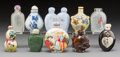 Asian:Chinese, A Group of Ten Chinese Snuff Bottles. 3 inches (tallest). ...(Total: 10 Items)