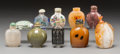 Asian:Chinese, A Group of Ten Chinese Snuff Bottles. 3-1/2 inches (tallest). ...(Total: 10 Items)