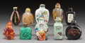 Asian:Chinese, A Group of Ten Chinese Snuff Bottles. 3-1/4 inches (tallest). ...(Total: 10 Items)
