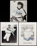 Autographs:Others, Misc. Baseball Signed Photographs & Postcards.. ...