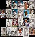 Autographs:Post Cards, Baseball Hall of Famers Signed Photograph & Postcard Lot of 39.. ...