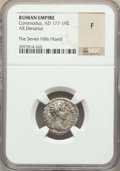 Ancients:Ancient Lots  , Ancients: ANCIENT LOTS. Roman Imperial. Ca. AD 177-211. Lot of two(2) AR denarii. NGC Fine-AU, The Seven Hills Hoard.... (Total: 2coins)