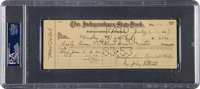 1949 Mickey Mantle Signed Independence (KS) Yankees Payroll Check