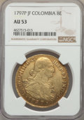 Colombia, Colombia: Charles IV gold 8 Escudos 1797 P-JF AU53 NGC,...