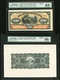 Canadian Currency, Toronto, ON- The Metropolitan Bank $100 11.5.1902 Ch. #485-10-24FP & #485-10-24BP Front and Back Proofs.. ... (Total: 2 notes)