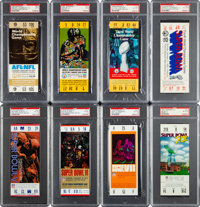 1967-2018 Super Bowl Full Ticket Run of 52--Number One All-Time Finest on the PSA Set Registry!