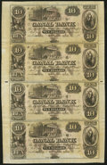 Obsoletes By State:Louisiana, New Orleans, LA - Canal Bank $10-$10-$10-$10 18__ Uncut Sheet. ...