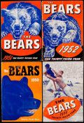 Football Collectibles:Programs, 1950-55 Chicago Bears Yearbook Lot of 4.. ...