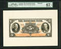Canadian Currency, Toronto, ON- Dominion Bank $5 1.2.1931 Ch. #220-24-02FP &#220-24-02BP Front and Back Proofs.. ... (Total: 2 notes)