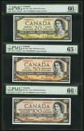 Canadian Currency, Canada Devil's Hair Notes Serial Numbered 22.. ... (Total: 3 notes)