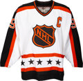 Miscellaneous Collectibles:General, 1991 Wayne Gretzky All-Star Game Worn Campbell Conference Jersey with Hockey Hall of Fame Letter.. ...