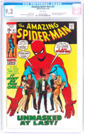 Bronze Age (1970-1979):Superhero, The Amazing Spider-Man #87 (Marvel, 1970) CGC NM- 9.2 White pages....