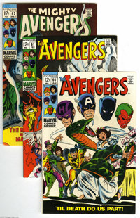 Avengers #60-99 Group (Marvel, 1969-1972) Condition: Average VF+. This nice forty-issue lot of Bronze Age Avengers tales...