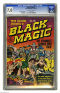 Golden Age (1938-1955):Horror, Black Magic #2 (Prize, 1950) CGC FN/VF 7.0 Off-white to whitepages. Jack Kirby cover. Kirby and Joe Simon art. Overstreet 2...