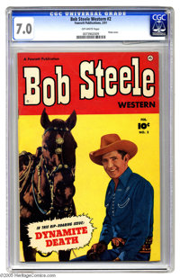 Bob Steele Western #2 (Fawcett, 1951) CGC FN/VF 7.0 Off-white pages. Starring Bob Steele, the fastest straight shooter o...