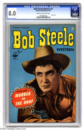 """Golden Age (1938-1955):Western, Bob Steele Western #5 (Fawcett, 1951) CGC VF 8.0 Cream to off-white pages. Bob Steele stars in """"Murder on the Hoof."""" Photo c..."""