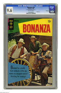 Bonanza #30 File Copy (Gold Key, 1968) CGC NM+ 9.6 Off-white pages. Photo cover. Overstreet 2005 NM- 9.2 value = $80. CG...