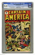 Captain America Comics #38 (Timely, 1944) CGC FN- 5.5 Cream to off-white pages. This early Cap issue features a Human To...
