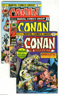 Bronze Age (1970-1979):Miscellaneous, Conan the Barbarian Box Lot (Marvel, 1974-82) Condition: AverageVF. This short box contains a nearly complete run of bagged...