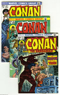 Bronze Age (1970-1979):Miscellaneous, Conan the Barbarian Group (Marvel, 1973-93) Condition: Average VF.This box lot includes a near-complete run of the original...