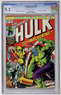 Bronze Age (1970-1979):Superhero, The Incredible Hulk #181 (Marvel, 1974) CGC NM- 9.2 Off-white towhite pages....