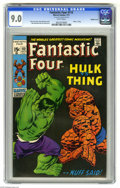 Bronze Age (1970-1979):Superhero, Fantastic Four #112 Double Cover (Marvel, 1971) CGC VF/NM 9.0 White pages. The Hulk battles the Thing. J. Jonah Jameson came...