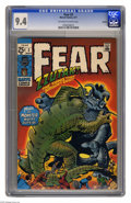 Bronze Age (1970-1979):Horror, Fear #3 Oakland pedigree (Marvel, 1971) CGC NM 9.4 Off-white towhite pages. Jack Kirby cover. Overstreet 2005 NM- 9.2 value...