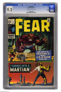 Bronze Age (1970-1979):Horror, Fear #4 Oakland pedigree (Marvel, 1971) CGC NM- 9.2 Off-white towhite pages. Marie Severin and Steve Ditko cover. Overstree...