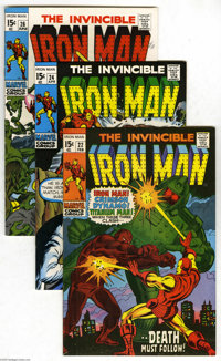 Iron Man Group (Marvel, 1970-71) Condition: Average VF. Fourteen-issue lot features #22 (George Tuska cover and art, dea...