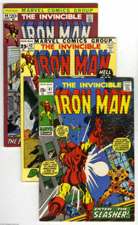 Iron Man Group (Marvel, 1971-74) Condition: Average VF+. Nineteen-issue lot includes #41 (George Tuska cover and art), 4...