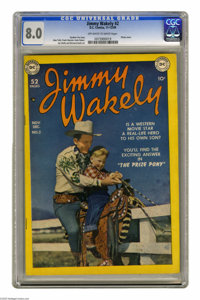 Jimmy Wakely #2 (DC, 1949) CGC VF 8.0 Off-white to white pages. Photo cover. Alex Toth, Frank Giacoia, Irwin Hasen, Joe...