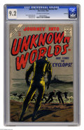 Silver Age (1956-1969):Horror, Journey Into Unknown Worlds #50 Bethlehem pedigree (Atlas, 1956)CGC NM- 9.2 Off-white to white pages. Bill Everett cover. J...