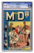 Golden Age (1938-1955):Miscellaneous, M.D. #4 Gaines File pedigree (EC, 1955) CGC VF/NM 9.0 Off-white pages. Johnny Craig cover. Reed Crandall, Joe Orlando, Georg...