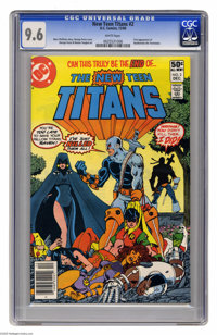 New Teen Titans #2 (DC, 1980) CGC NM+ 9.6 White pages. First appearance of Deathstroke the Terminator. George Perez cove...