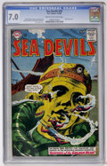 Silver Age (1956-1969):Adventure, Sea Devils #16 (DC, 1964) CGC FN/VF 7.0 Cream to off-white pages....