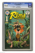 Bronze Age (1970-1979):Miscellaneous, Rima the Jungle Girl #1 (DC, 1974) CGC NM 9.4 Off-white to whitepages. Joe Kubert cover. Nestor Redondo and Alex Nino art. ...