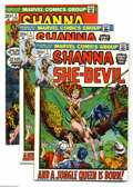 Bronze Age (1970-1979):Miscellaneous, Shanna the She-Devil #1-5 Group (Marvel, 1972-73) Average VF/NM.Here's the entire run of this five-issue series: #1 (two co... (7Comic Books)