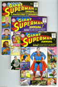 Silver Age (1956-1969):Superhero, Superman Annual #1-5 Group (DC, 1960-62). Five issue lot includes#1 (first DC Silver Age annual), 2 (super-villain issue), ... (5Comic Books)