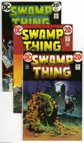 Bronze Age (1970-1979):Horror, Swamp Thing Group (DC, 1973-76) Condition: Average VF/NM. Ten-issuelot includes #4, 5, 6, 7 (Batman appearance), 8, 10 (Ber... (10Comic Books)