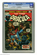 Bronze Age (1970-1979):Horror, Tomb of Dracula #13 (Marvel, 1973) CGC VF/NM 9.0 Off-white to whitepages. Origin of Blade the Vampire Slayer. Gil Kane, Joh...