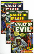 Bronze Age (1970-1979):Horror, Vault of Evil #1-16 Group (Marvel, 1973-74) Condition: Average VF.This chilling group lot contains Vault of Evil # 1, 2... (16 ComicBooks)