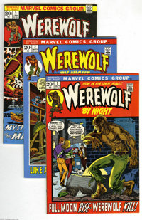 Werewolf by Night #1-24 Group (Marvel, 1972-74) Condition: Average VF+. Included here are # 1, 2, 3, 4, 5, 6, 7, 8, 9, 1...
