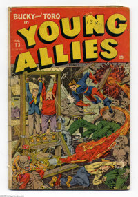 Young Allies Comics #13 (Timely, 1944) Condition: GD-. Featuring Captain America and the Human Torch's sidekicks, Bucky...